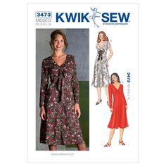 Dresses-Misses' XS-S-M-L-XL Pattern, , hi-res