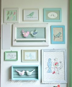 Birdie wall art! If we ever have a girl they are so getting a bird nursery