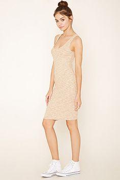 Heathered Knit Bodycon Dress