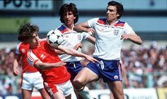 England's Trevor Brooking and Paul Mariner challenge Ian Walsh in Wales' win in 1980 England Euro 2016, Paul Mariner, Trevor Brooking, Welsh Football, England National, Take Heart, England Football, International Football, National Football Teams