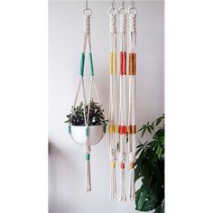 This item is unavailable Macrame Wall Hanging Patterns, Macrame Hanging Planter, Macrame Plant Hangers, Macrame Patterns, Hanging Planters, Macrame Design, Macrame Projects, Boho Diy, Crafty Craft