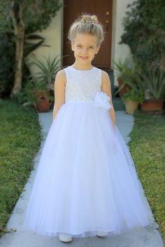 ff91300f9cd ekidsbridal White Floral Lace Heart Cutout Toddler Flower Girl Dress  Christening 172F 8
