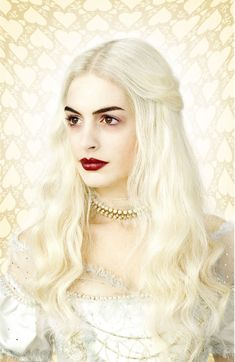 Anne Hathaway as White Queen in Tim Burton's Alice in Wonderland.