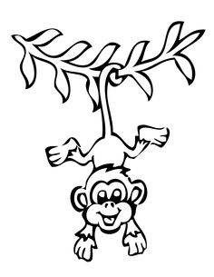Cute Monkey Coloring Pages Kids Coloring Pages Pinterest Monkey