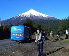 """Pucon 2007. """"en un Tour, camino a las canchas de esqui en los faldeos del Volcan Villarrica"""""""
