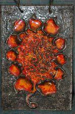 RAR 70´s POP ART Orange Flower Ruscha 24x36 KERAMIK Wandplatte Wandkeramik