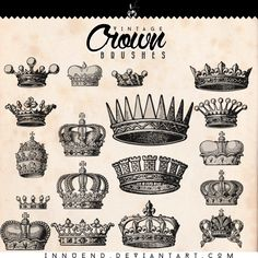 Crown brushes by Innuend brush set icons king queen painting drawing resource tool how to tutorial instructions | Create your own roleplaying game material w/ RPG Bard: www.rpgbard.com | Writing inspiration for Dungeons and Dragons DND D&D Pathfinder PFRPG Warhammer 40k Star Wars Shadowrun Call of Cthulhu Lord of the Rings LoTR + d20 fantasy science fiction scifi horror design | Not Trusty Sword art: click artwork for source