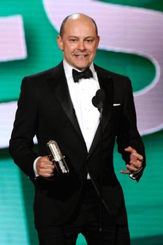 Rob Corddry speaks onstage at the First Annual Comedy Awards at Hammerstein Ballroom on March 26, 2011 in New York City.