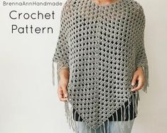 Exceptional Stitches Make a Crochet Hat Ideas. Extraordinary Stitches Make a Crochet Hat Ideas. Crochet Poncho Patterns, Crochet Scarves, Crochet Shawl, Crochet Clothes, Free Crochet, Crochet Granny, Crochet 101, Sweater Patterns, Crochet Edgings