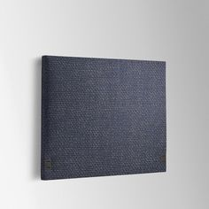 West Elm simple headboard in pebble weave aegean blue, $449