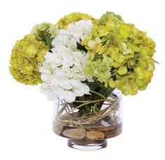 Hydrangea Faux Flower Arrangement