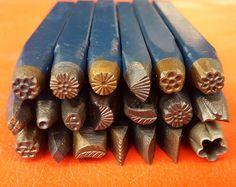 Benutzerdefinierte 20 Stück Eisen Stahl Vintage Metall design Stempel - Schmuck Werkzeuge - Wachs - Metal Clay Werkzeuge