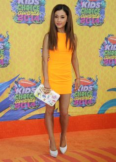 Ariana Grande - Sam e Cat em Celebrity Outfits, Celebrity Style, Kids Choice Awards 2014, Ariana Grande Hot, Icarly And Victorious, Sam And Cat, Face Hair, Celebs, Celebrities