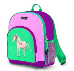 Great gift from Crocodile Creek for your little Pony Lover. The bag has many compartments to organise school books, lunch box, flask. (See the Matching Flask)