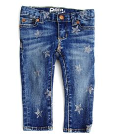 Maya Skinny Jean with Stars - New In - Browse - baby girls | Peek Kids Clothing