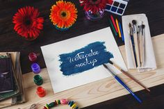 Posted by @newkoko2020 Watercolor Mock-Up for Every Day by Tim Root on @creativemarket
