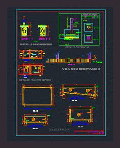Swimming pool details dwgAutocad drawing structure