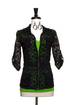 Dressing Your Truth - Type 4 Black Lace Jacket