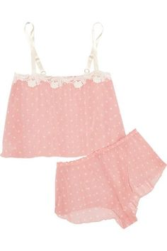 Baby-pink and ivory chiffon, white lace Slips on  100% polyester; trim: 100% cotton  Hand wash