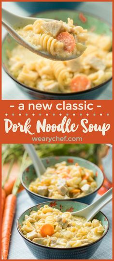 Got leftover pork tenderloin, roast, or ribs? This Pork Noodle Soup recipe is the very best way to turn last night's dinner into your new favorite comfort food! (Sponsored by Smithfield)
