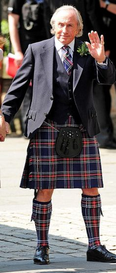 Scottsih Man is looking nice in tartan.....