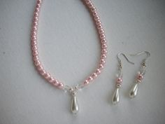 SALE Soft Baby Pink Pearl Necklace and by DesignsbyPattiLynn