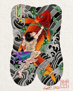 Tattoo Design Drawings, Tattoo Designs, Asian Tattoos, Japanese Sleeve Tattoos, Samurai Tattoo, Irezumi, Lunges, Oriental, Mascaras