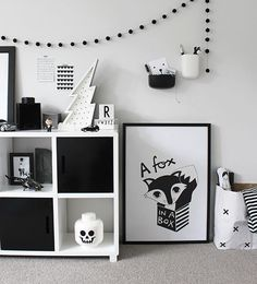 Love the Scandi schic monochrome kids bedroom style? You're going to need this must-have shopping list to get the look. black and white kids bedroom, monochrome nursery, modern home. Monochrome Nursery, White Nursery, Nursery Modern, Monochrome Interior, Kids Bedroom, Bedroom Decor, Kids Rooms, Nursery Decor, Bedroom Ideas