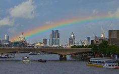 Telegraph reader Ian Wylie sent us this beautiful photograph of a rainbow that formed over St Paul's Cathedral in London yesterday evening.     Picture: Ian Wylie / www.ianwylie.com / @ianwylie    from The Telegraph