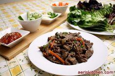 How to Eat (Wrap) Bulgogi | Aeri's Kitchen | Cooking Korean Recipes & Food