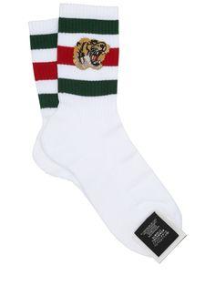 GUCCI TIGER PATCH SOCKS. #gucci #cloth #