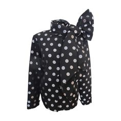 Patrick Kelly Silver Polka Dot Black Jacket with Scarf | From a collection of rare vintage jackets at https://www.1stdibs.com/fashion/clothing/jackets/