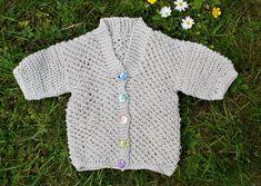 Summer baby cardigan knit pattern.