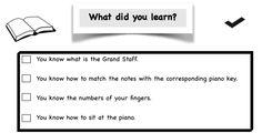 Piano Lesson Checklist