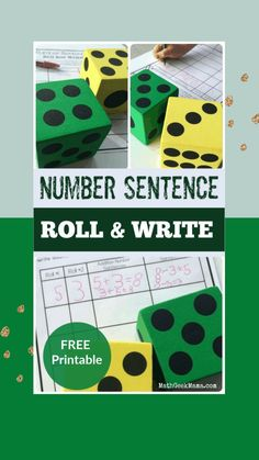 These number practice pages are so cute and fun for kids! It's especially fun if you let kids use giant foam dice. There are also other fun handwriting tips for kids, too! This makes a great math activity for preschool and kindergarten #preschoolmathactivity #math #homeschool #numberpractice Educational Activities For Kids, Math Activities, Kids Learning, Math Resources, Elementary Math, Kindergarten Math, Teaching Math, Teaching Tips, Preschool
