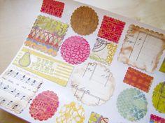 Vintage Style Stickers-Labels-Embellishment-Envelope Seal-TYPEWRITER SET