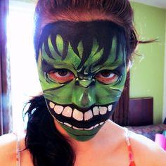 Maquillage pour enfant, Hulk, Children make-up, Face painting for kids