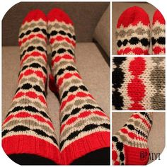 Crochet Socks, Knitting Socks, Knit Crochet, Marimekko, Knitting Projects, Mittens, Diy And Crafts, Projects To Try, Sewing