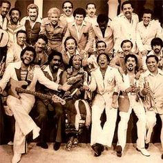 Hector LaVoe, Yomo Toro, Celia Cruz,, Johnny Pacheco and a host of salsa super stars from the made up La Fania All-Stars. Spanish Music, Latin Music, Dance Music, Good Music, My Music, Music Books, Live Music, Heavy Metal, Puerto Rican Music