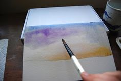 Today I'm going to show you how to paint a sky. Now the real point of the exercise is to loosen up, not to produce a photographic image...