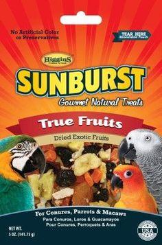 BIRD - TREATS - SUNBURST TREAT TRUE FRUIT - 5OZ - HIGGINS PET FOOD - UPC: 46706322534 - DEPT: BIRD PRODUCTS