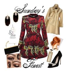 """""""Sunday's Finest"""" by fashiontagboutique on Polyvore featuring Elie Saab, Marc by Marc Jacobs, Balmain, Kendra Scott, Miu Miu, ASOS, Prada, women's clothing, women's fashion and women"""