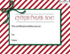 Printable Christmas Gift Certificates Lovetoknow Christmas Gift Certificate Printable Gift Certificate Christmas Gift Certificate Template