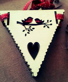Laser cut bunting #lasercut #lovebirds