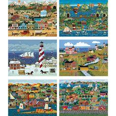 Set of 6: Anthony Kleem 500 Piece Jigsaw Puzzles