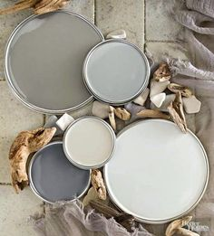 Coastal Beach Gray Colors: http://www.completely-coastal.com/2016/02/coastal-gray-bedroom.html Taking inspiration from beach pebbles and ocean tumbled aged. driftwood