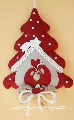 arbol de navidad en fieltro
