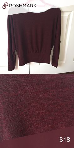 Forever 21 Maroon light fall sweater Great with a pair of jeans and leggings or a vest! 👌🏼🍁🍂🍃 from a smoke-free home and in perfect condition Forever 21 Sweaters