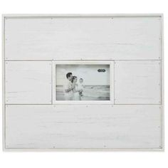 Mud Pie® Planked Distressed 4-Inch x 6-Inch Picture Frame in White - BedBathandBeyond.com