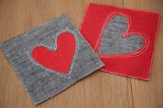 Cute little hot pads for Valentines Day! Freehand Machine Embroidery, Machine Embroidery Projects, Diy Home Accessories, Heart Crafts, Catechism, Sewing Class, Diy Home Crafts, Mug Rugs, Valentine Day Crafts